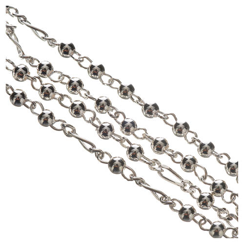Rosary beads in silver, Pope Francis 0,12in 8