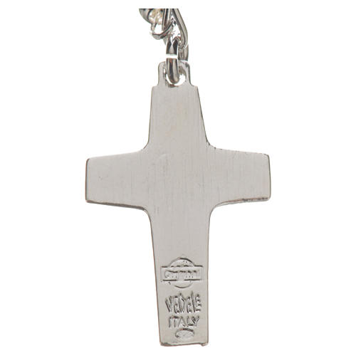 Rosary beads in silver, Pope Francis 0,12in 9