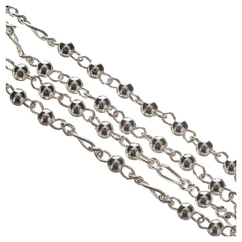 Rosary beads in silver, Pope Francis 0,12in 3