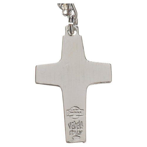 Rosary beads in silver, Pope Francis 0,12in 4