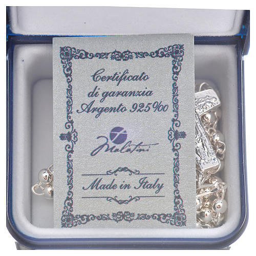 Rosary beads in silver, Pope Francis 0,12in 5