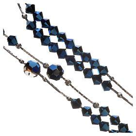 Chapelet Argent 925 rhodié et Swarovski 5mm Bleu s4