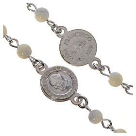 Pope Francis rosary in 925 silver and mother of pearl s3