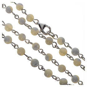Pope Francis rosary in 925 silver and mother of pearl s4
