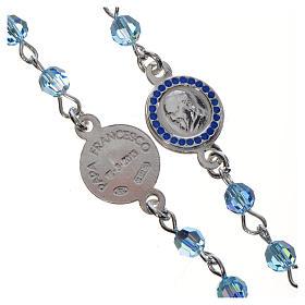 Chapelet Pape François Swarovski bleus argent 800 s3