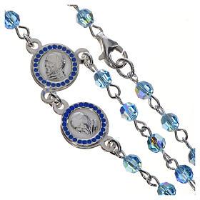 Rosario Papa Francesco Swarovski azzurri argento 800 s4