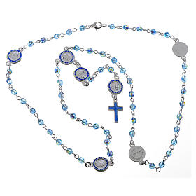 Pope Francis rosary in 800 silver and Swarovski s5