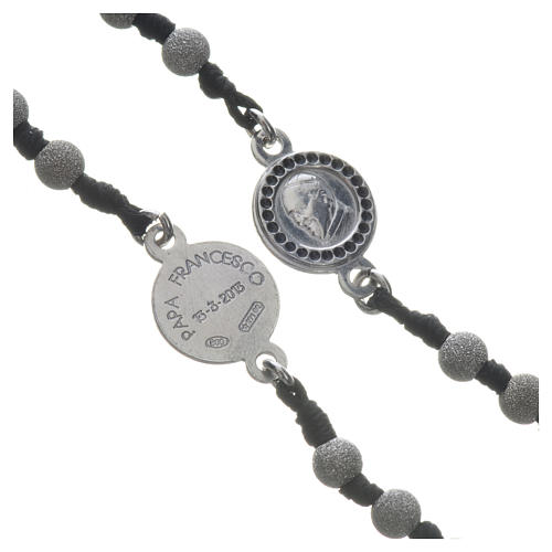 Pope Francis rosary in 800 silver, diamond-cut grains 3