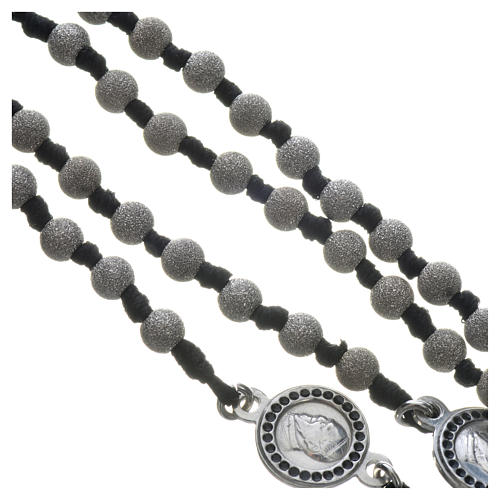 Pope Francis rosary in 800 silver, diamond-cut grains 4