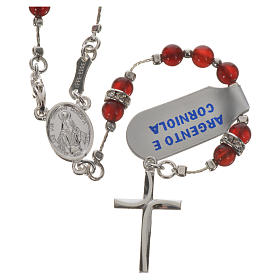 Rosary in 925 silver and carnelian s6