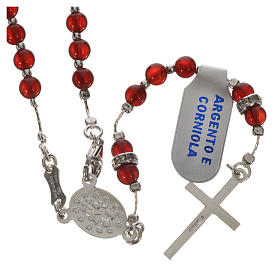 Rosary in 925 silver and carnelian s7