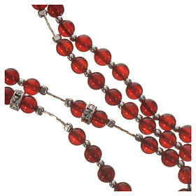Rosary in 925 silver and carnelian s9