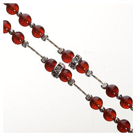 Rosary in 925 silver and carnelian s14