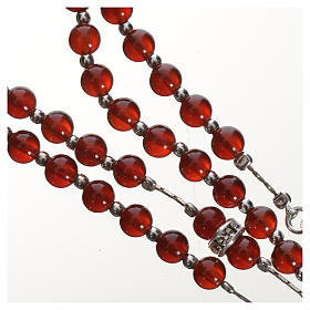 Rosary in 925 silver and carnelian s4