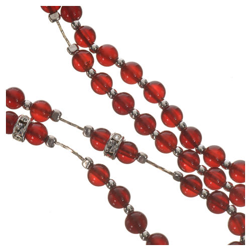 Rosary in 925 silver and carnelian 9