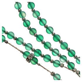 Rosenkranz Silber 800 und Achat-Perlen s4