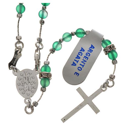 Rosenkranz Silber 800 und Achat-Perlen 2