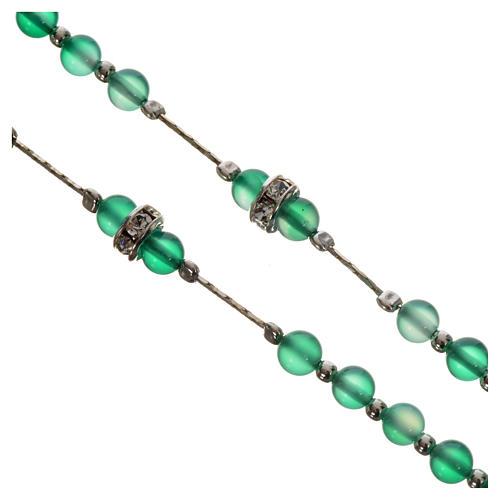 Rosenkranz Silber 800 und Achat-Perlen 3