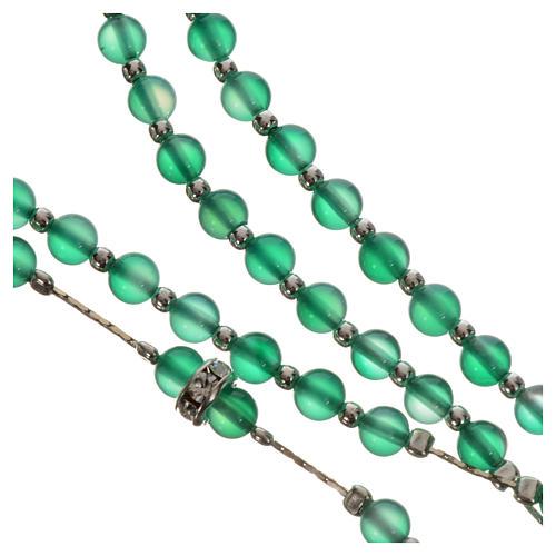 Rosenkranz Silber 800 und Achat-Perlen 4