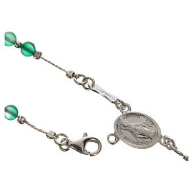 Rosary beads in 800 silver and agate s5