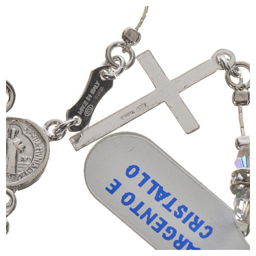 Rosary beads in 925 silver and transparent crystal 6