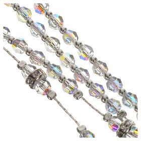 Rosario argento 925 e cristallo trasparente s4