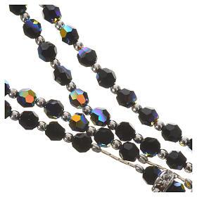Rosario argento 800 e cristallo nero s4