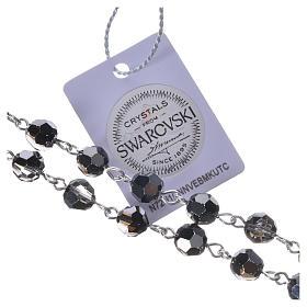 Chapelet argent 800 Swarovski noirs médaille Miraculeuse s5