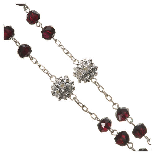 Rosary beads in 800 silver and garnet 3