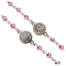 Rosario plata 800 Swarovski rosa ángel de la guarda s3