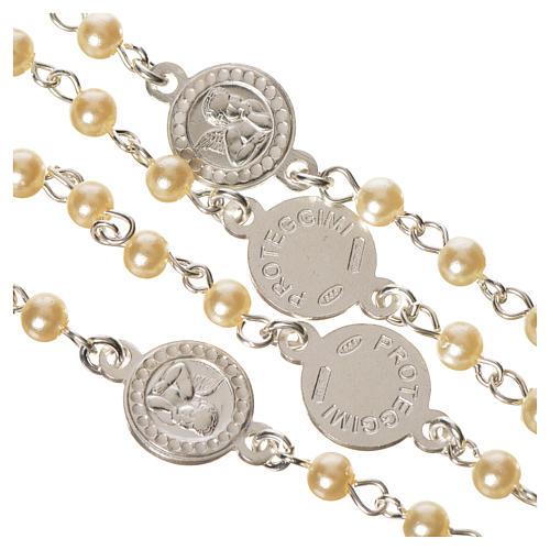 Rosario plata 800 perlas Ángel de la guarda 4
