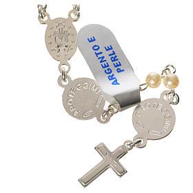 Chapelet argent 800 perle Ange Gardien s2