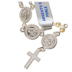 Rosario argento 800 perle angelo custode s1