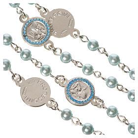 Rosario argento 800 perle azzurre angelo custode s4