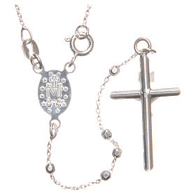 Rosary beads in sterling silver with grains of 3 mm s2