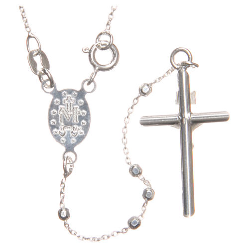 Rosary beads in sterling silver with grains of 3 mm 2