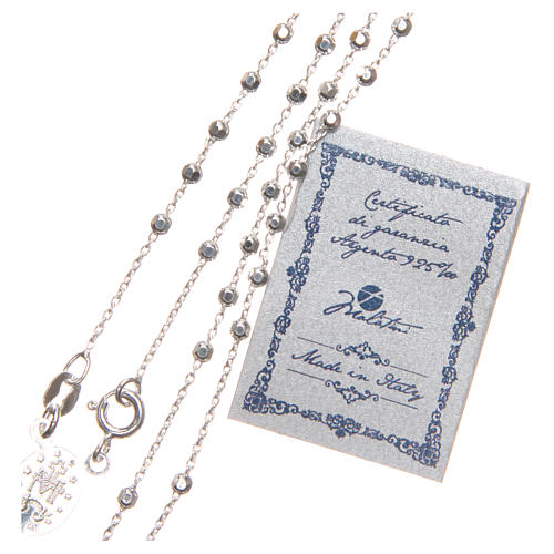 Rosary beads in sterling silver with grains of 3 mm 3