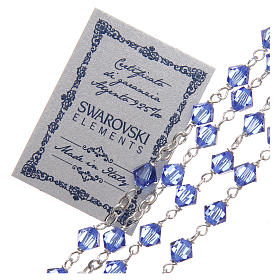 Rosary beads in Swarovski and sterling silver 6mm aquamarine s3