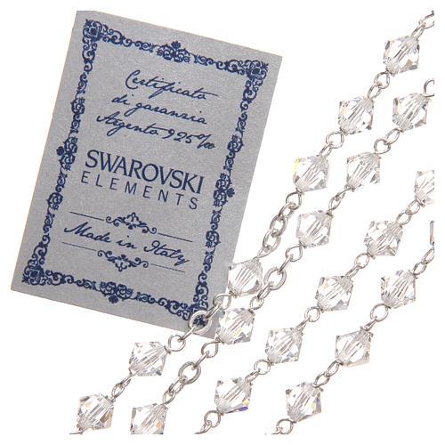 STOCK Rosario argento 925 Swarovski Logo Giubileo 6 mm cristallo 3