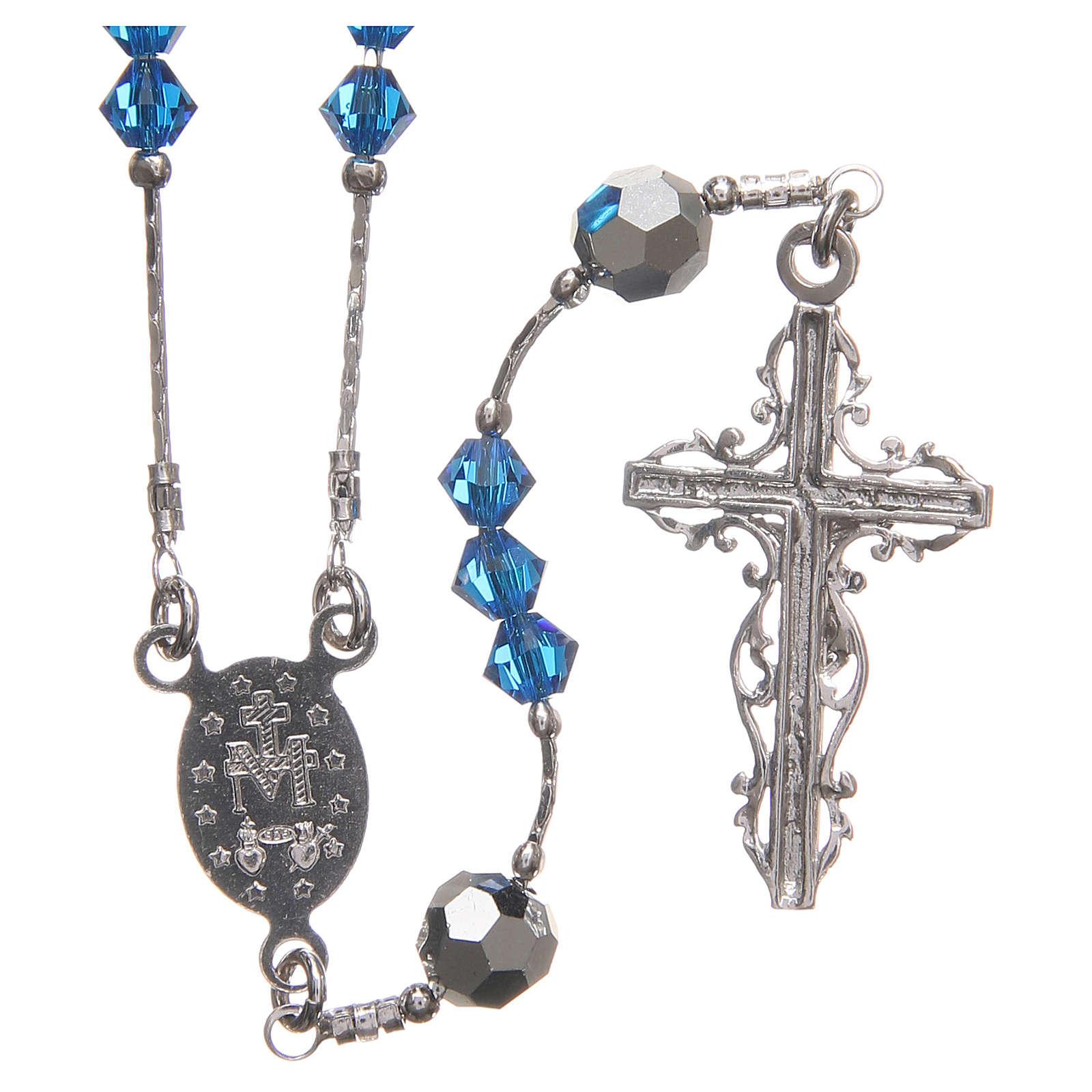 8d2cafd17da039 Rosario Swarovski e argento 925 grani 4 mm blu   vendita online su ...