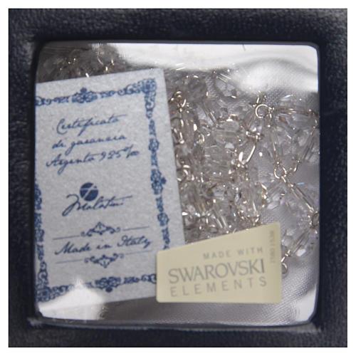 Chapelet argent 925 Swarovski blanc 6 mm 4