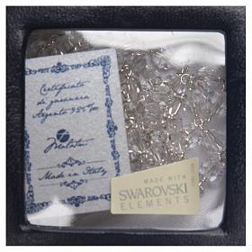 Rosario argento 925 Swarovski bianco 6 mm s4