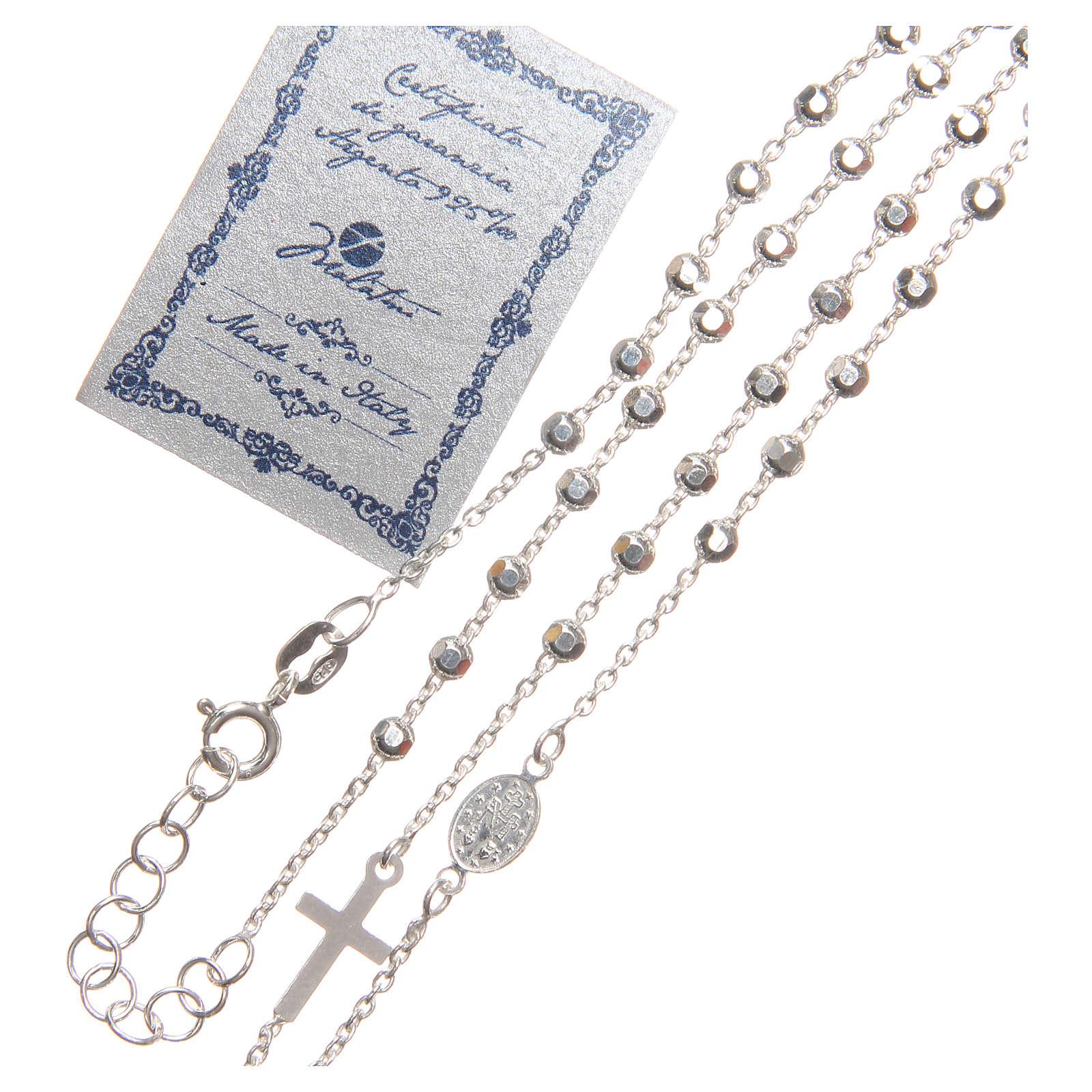 Rosario argento 925 con grani di 3 mm 4