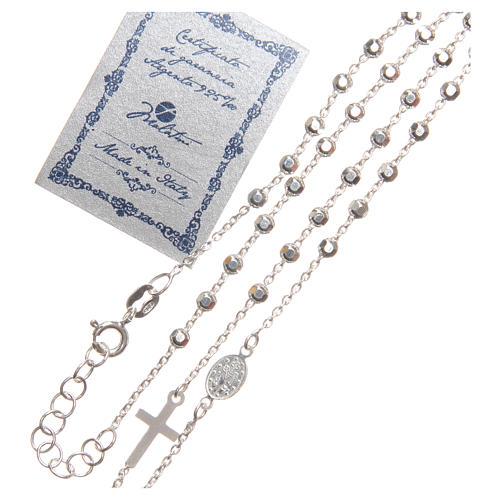 Rosario argento 925 con grani di 3 mm 3