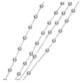 Naszyjnik różaniec AMEN klasyczny srebro 925 wyk. rod s4