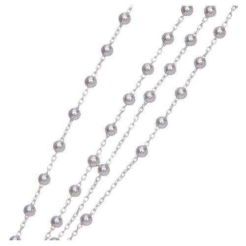 Naszyjnik różaniec AMEN klasyczny srebro 925 wyk. rod 4
