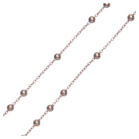 Rosary Necklace AMEN classic silver 925, Rosè finish s3
