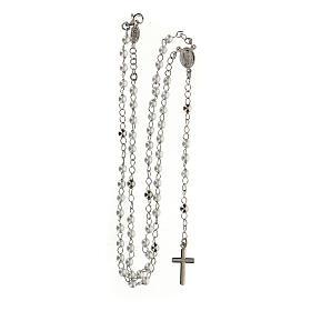 Collar Rosario AMEN clásico perlas plata 925 acabado Rodio s4