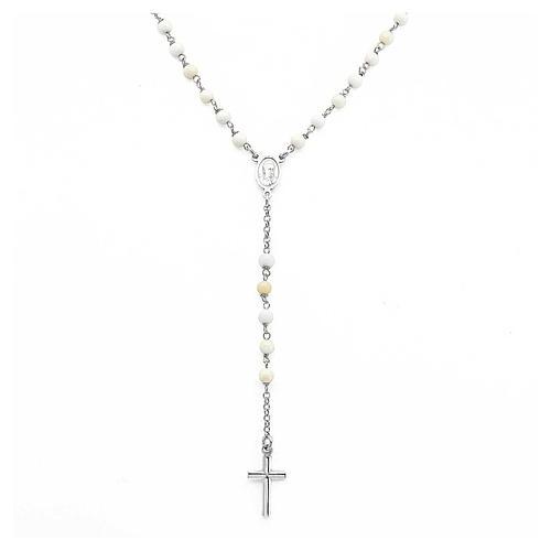 Collana rosario AMEN classico perle arg 925 Rodio 1