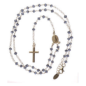 Collar Rosario AMEN clásico cristales azul plata 925 Amarillo s4